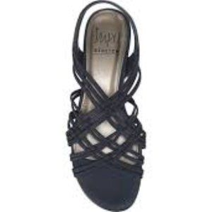NWOT impo stretch sandals navy blue